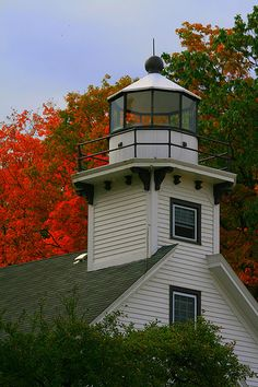 Old Mission Point Lighthouse near Traverse City, Michigan. Especially in the winter when there is not another person for miles Michigan Vacations, Michigan Travel, Lake Michigan, Traverse City, Beacon Of Light, Northern Michigan, Great Lakes, Beautiful Places, Beautiful Lights