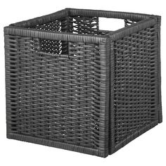 """Size: 12 ½ """" The handwoven rattan gives each basket a distinct and natural expression. This stable basket has many potential uses and is dimensioned for KALLAX shelving, giving it a unique look and function. Small Storage, Storage Boxes, Storage Baskets, Towel Storage, Storage Ideas, Kallax Shelf Unit, Kallax Shelving, Liatorp, Rattan"""