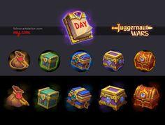 ArtStation - Daily Bonus Icons, Julia Titova
