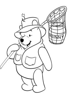 Free & Easy To Print Winnie the Pooh Coloring Pages - Tulamama Food Coloring Pages, Cartoon Coloring Pages, Disney Coloring Pages, Animal Coloring Pages, Coloring Pages To Print, Free Printable Coloring Pages, Coloring Pages For Kids, Coloring Books, Winnie The Pooh Drawing