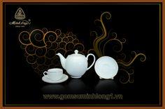 Bộ Trà Cao cấp - Gốm Sứ Minh Long 1: Bộ trà 0.5L Came Chỉ Vàng 01503801403