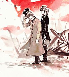 """""""The Chief and The Guide"""" Enjolras and Combeferre after the battle"""