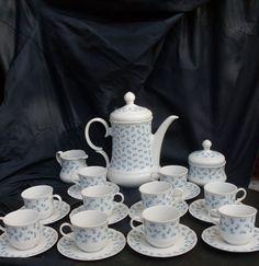 figurant da tè porcellana, completo da thé, thé, thé party, completo par caffè, porcellana bianca, Allemagne de l