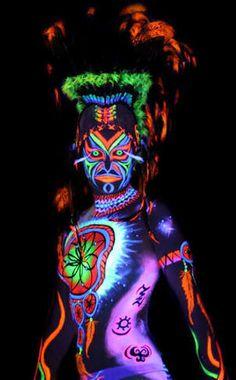 Image result for UV body art
