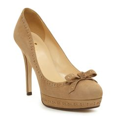 tan bow heels by kate spade. all the shoes for me please! :D