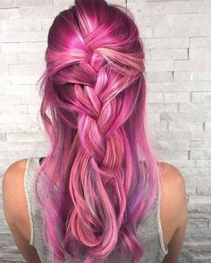Pink/purple  braided hairstyle #hair  #hairextensions #beauty #hairstyle #chicagohairextensionssalon