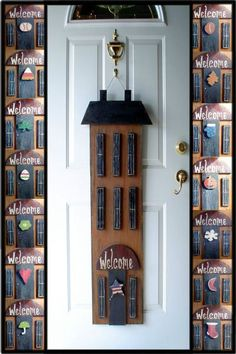 Saltbox 15pc Changable Doorhanger by WoodPatterns on Etsy, $8.50