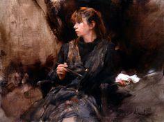 "Richard Schmid ""Nancy Painting"" Oil on linen  18x24"