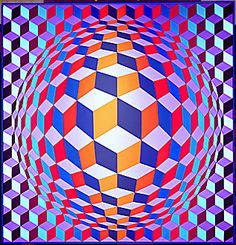 40-12-02/ 7 Vasarely,Victor de. Globe with Squares. ...