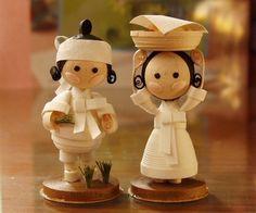miniature quilling by Nizelprim, artista coreano(a?) - quilling characters by Nizelprim, korean artist