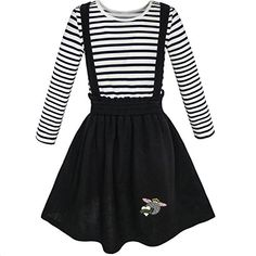 Sunny Fashion 2 Pieces Set Girls Dress T-Shirt Suspender Skirt School Size Sunny Fashion 2 Pieces Set Girls Dress T-Shirt Suspender Skirt School Size Polyster. Strechy and comfortable material Knee length. Dresses Kids Girl, Cute Girl Outfits, Kids Outfits Girls, Cute Outfits For Kids, Dresses For Teens, Cute Dresses, Girl Skirts, Kids Girls, Baby Girls