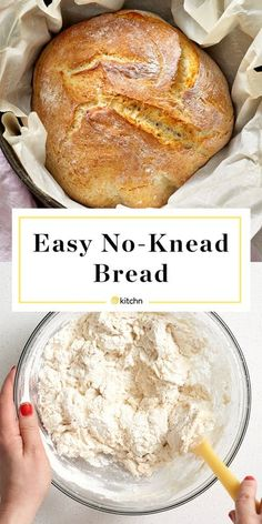 No Knead Bread Recipe-suitable for slow-cooker - Bread Recipes Dutch Oven Bread, Dutch Oven Recipes, Easy Bread Recipes, Cooking Recipes, Artisan Bread Recipes, Easy Overnight Bread Recipe, Easy Homemade Bread, Homemade Bagels, Knead Bread Recipe