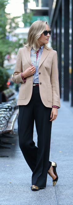 @The Classy Cubicle, great outfit - menswear for #classyladies #borrowedfromtheboys
