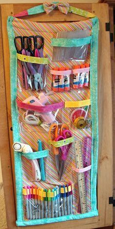A cute way to organize all your craft materials.