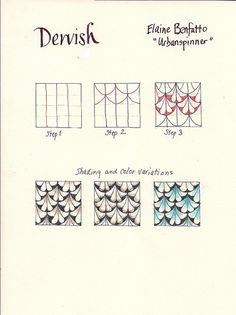 Dervish zentangle tutorial #zentangles