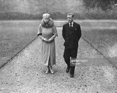 Duke of Windsor and mother Queen Mary, 1945. More