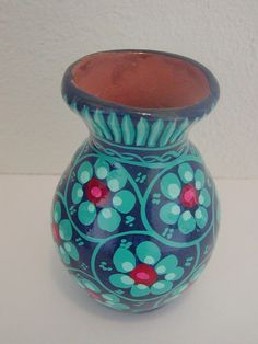 Happy 4th Sale  Vintage Wee Mexican Pottery Vase by TheWeeShelf, $8.80