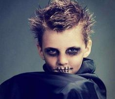 Kids' Halloween Costume Makeup Kids' DIY costumes for Halloween that start with your makeup bag Halloween Zombie, Halloween Makeup For Kids, Boy Halloween Costumes, Cute Halloween, Diy Costumes, Zombie Makeup For Kids, Costume Ideas, Halloween Customs, Zombie Prom