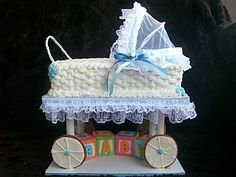 BABY SHOWER CAKE - one of my favorite cakes to make for a baby shower.  Very simple to do.