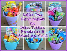 101 easter basket ideas for babies and toddlers that arent candy dollar tree easter basket for baby toddler preschooler school age child negle Image collections