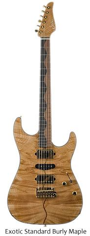 Suhr Custom Exotic Guitars - Exotic Standard Burly Maple