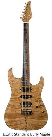 Suhr Custom Exotic Guitars - Exotic Standard Burly Maple