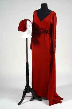 "Edith Head Red Silk Gown - This gown was selected by Edith Head purportedly for Hedy Lamarr for ""My Favorite Brunette"" (1947)."