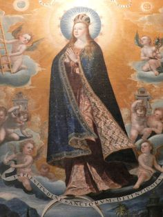 Museo Nacional de Arte, MUNAL - Baltasar de Echave Ibía (1584-1644) - Tota Pulchra (detalle) De la dinastía de los Echave, mi favorito es Echave Ibía. El manto de esta Tota Pulchra es extraordinario.