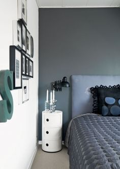 Grey and white bedroom. Gray Bedroom Walls, Bedroom Bed, White Bedroom, Bedroom Colors, Bedroom Decor, Bedroom Ideas, Floating Bed Frame, Bright Rooms, Target Home Decor