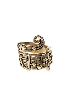A 14K Gold dipped sheet music wrap ring. Perfect for a promise or best friend gift. This also makes a great wedding band, eternity or graduation gift. Is there someone that makes your heart sing? SHEE