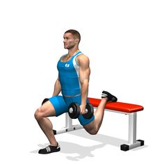 The exercise is very hard for the quads and glutes.