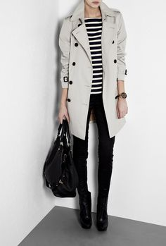 Cotton Trench Coat b