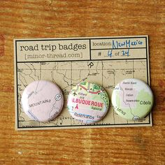 Road Trip Badges  New Mexico No 04  FREE SHIPPING by minorthread, $5.00