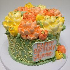Gorgeous buttercream cake by the white flower cake shoppe Gorgeous Cakes, Pretty Cakes, Amazing Cakes, Cupcakes, Cupcake Cakes, 7 Cake, Cake Art, White Flower Cake Shoppe, Buttercream Cake