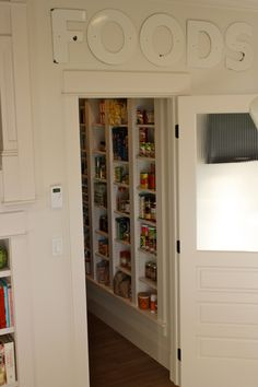 I believe I am in love with this woman's pantry! I want one in my future dream home!