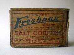 Vintage Wooden Boxes for Sale | Summer Sale Vintage Wooden Fish Box by whatnotsandsuch on Etsy