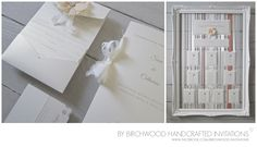 Stationery suite | Matching invitations, table plan, menus and placeholder cards.  By Birchwood Handcrafted Invitations ©