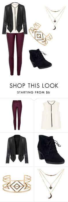 """""""Untitled #81"""" by adriana03182003 ❤ liked on Polyvore featuring River Island, Erdem, Clarks, Stella & Dot and Charlotte Russe"""