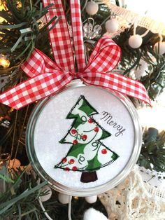A set of 3 cute and simple DIY Christmas ornaments.  Great for a country-themed decor scheme.