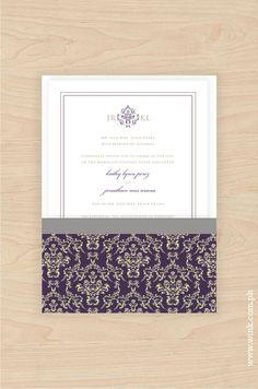Windsor – Elizabeth | Written in Ink Tony Perez, Windsor, Damask, Wedding Invitations, Marriage, Pouch, Ink, Writing, Classic