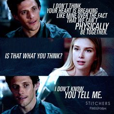 """S3 Ep3 """"Perfect"""" - Trouble in paradise? #Stitchers"""