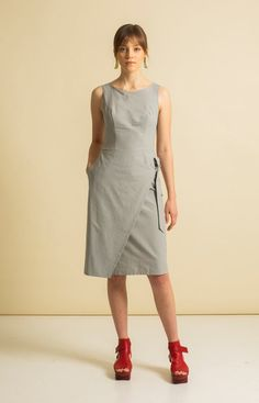 Made from 100 % recycled materials in Loksa, Estonia. Wrap Jumpsuit, Sustainable Fashion, Slim, Summer Dresses, Grey, Skirts, Collection, Gray, Skirt