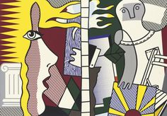 Roy Lichtenstein (American, 1923-1997), Untitled Composition, 1978. Oil and magna on canvas, 84 x 120 in.