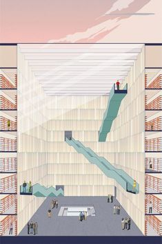 20 Stairs Atrium Architecture Model is part of architecture Drawing Elevation Floor Plans - Amanbagh Resort is about making its visitors receive a feel of the Mughal legacy Some hotels don't have staff present all evening Stairs Architecture, Architecture Graphics, Architecture Visualization, Architecture Drawings, Concept Architecture, Landscape Architecture, Interior Architecture, Sections Architecture, Library Architecture