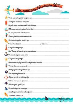 20 cosas que todo niño debería hacer en verano y que tendría que dejar escrito para valorar sus aventuras del verano. Un imprimible para niños donde poder practicar en verano la lectura, la escritura y el valor de las pequeñas grandes cosas que hacen durante un transcurso de tiempo. #imprimible #imprimiblegratuito #juegosparaniños