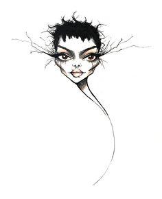 Fashion Illustration Sketches, Fashion Sketches, Illustration Art, Art Journal Inspiration, Art Inspo, Newspaper Art, Grunge Art, Dark Art Drawings, Whimsical Art