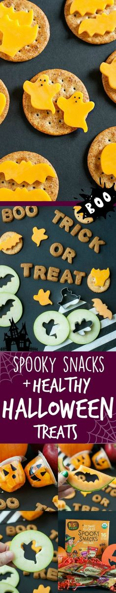 Spooky Snacks and Healthy Halloween Treats: Snack spooky with these super healthy snacks that are fun, delicious, & SO easy to make even the kids can help!