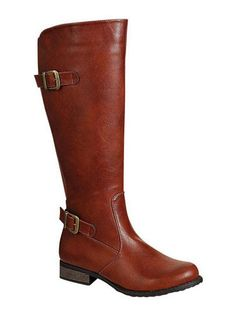 These super cute cognac colored boots will graze the knee and have an accommodating stretchy calf- perfect for all sizes.