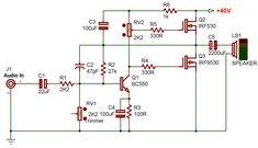 Diy Amplifier, Electronic Schematics, Electronic Engineering, Ham Radio, Arduino, Seymour Duncan, Audio Amplifier, Electrical Projects, Electronic Circuit