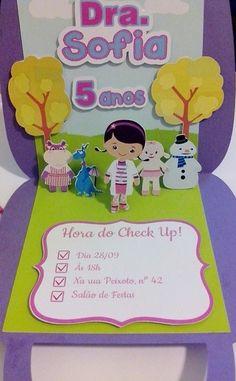 Convite Pop Up Doutora Brinquedos